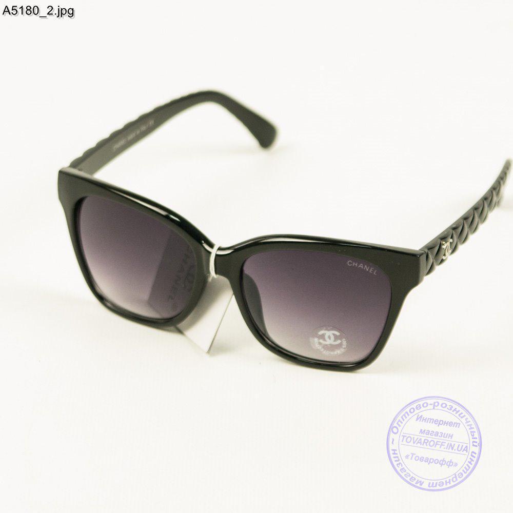 2579df38af52 Оптом брендовые очки солнцезащитные женские Chanel - Черные - А5180 ...