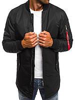 Куртка-пальто мужская черная (весна-осень), фото 1