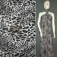 Лайкра белая в леопард