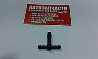 Переходник шланга тройник Д=4х6х4 пластиковый Болгария