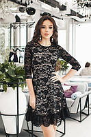 Гіпюрове чорне плаття Francheska (S, M)