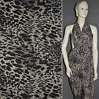 Лайкра черная в леопард