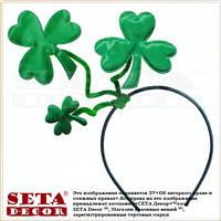 Головной убор на прокат Трили́стник зелёный лист клевера на обруче- символ празднования Дня святого Патрика
