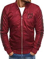 Куртка мужская бордовая (весна-осень), фото 1