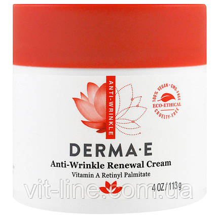 Derma e Антивозрастной крем с витамином А против морщин, фото 2