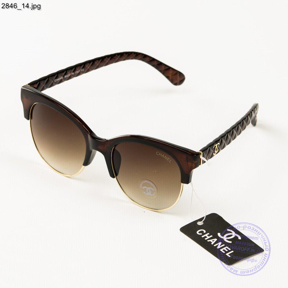 1bcddce73556 Оптом брендовые очки солнцезащитные женские Chanel - Коричневые - 2846/2