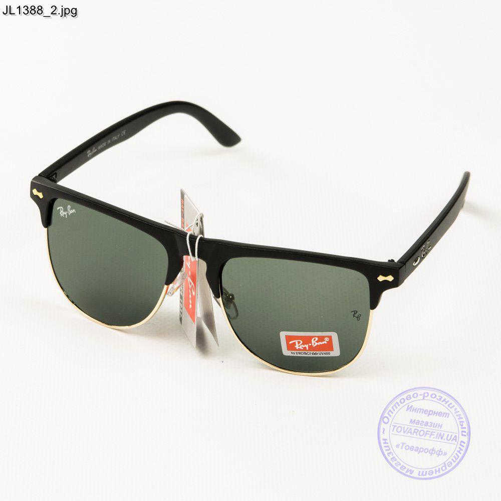 Оптом сонцезахисні окуляри Ray-Ban Клубмастер зі скляною лінзою - JL1388