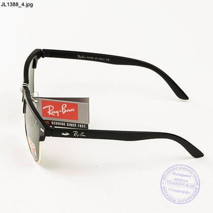 Оптом сонцезахисні окуляри Ray-Ban Клубмастер зі скляною лінзою - JL1388, фото 2