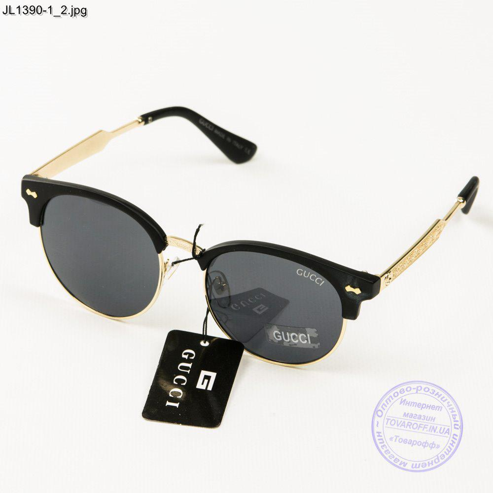 Оптом жіночі сонцезахисні окуляри Gucci (репліка) - JL1390-2