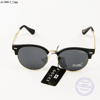 Оптом жіночі сонцезахисні окуляри Gucci (репліка) - JL1390-2, фото 2