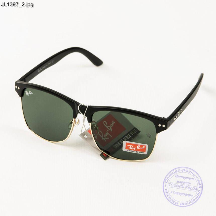 Оптом солнцезащитные очки Ray-Ban Clubmaster со стеклянной линзой - JL1397, фото 2