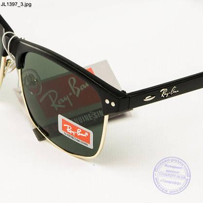 Оптом солнцезащитные очки Ray-Ban Clubmaster со стеклянной линзой - JL1397, фото 3