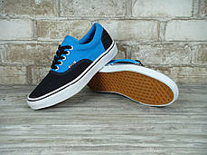 Мужские кеды Vans ERA Black/Light Blue,  Ванс Ера, фото 3