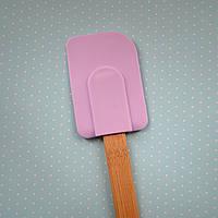 Лопатка силиконовая (деревянная ручка)