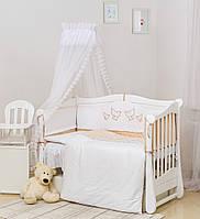 Детский постельный комплект Twins Romantik R-005 8 эл Dove beige