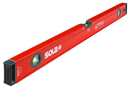 Уровень строительный Sola Red3_60 60см, 3 колбы, с ручками, эпоксидная поверхность, фото 2