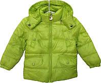 """Куртка детская демисезонная """"Home"""" #9 для мальчиков. 2-3-4-5-6 лет. Салатовая. Оптом, фото 1"""