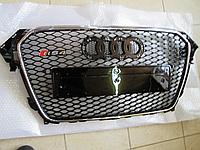 Решетка Audi A4 B8 рестайл стиль RS4 (хром рамка)