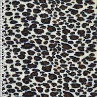 Флис светло бежевый с коричневым леопард ширина 150 флисовая ткань