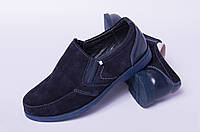 Кожаные подростковые туфли, детская обувь кожаная от производителя модель ДЖ3748