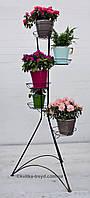Кованая подставка для цветов Башня 5