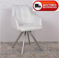 Кресло поворотное Leon (Леон) экокожа цвет белый, Бесплатная доставка