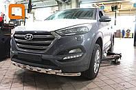 Защита переднего бампера Hyundai Tucson (2015-) (Shark) d60/42