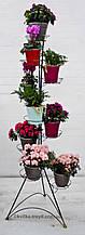 Кованая подставка для цветов Башня 9