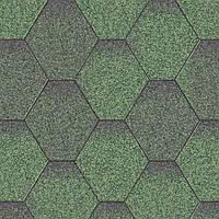 Битумная черепица Акваизол  Мозаика Зеленый микс
