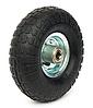 Колесо пневматическое диаметром 260 мм с металлическим диском, 4х слойная шина, ось 16 мм