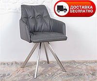 Кресло поворотное Leon (Леон) экокожа цвет темно-серый, Бесплатная доставка
