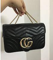 Модная женская сумка реплика  Gucci черная