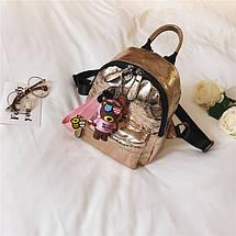 Рюкзак женский Crystal золотой eps-8057, фото 3