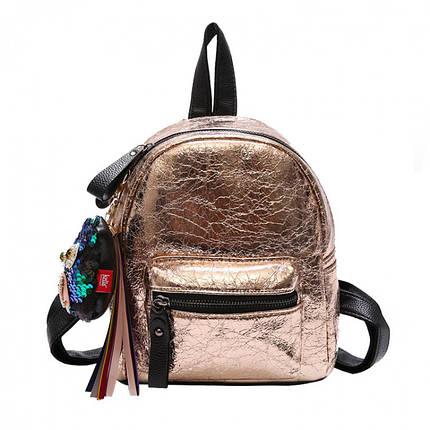 Рюкзак женский Crystal золотой eps-8057, фото 2