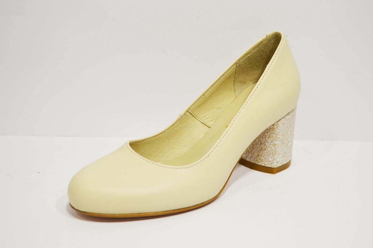 Шкіряні бежеві туфлі Nivelle 1529 39 розмір 25 см