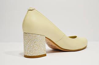 Шкіряні бежеві туфлі Nivelle 1529 39 розмір 25 см, фото 2