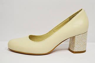 Шкіряні бежеві туфлі Nivelle 1529 39 розмір 25 см, фото 3
