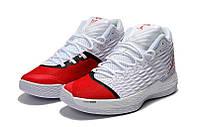 Кроссовки мужские Nike Air Jordan Melo M13 White Red белые с красным