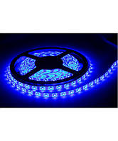 Светодиодная LED лента 60 диодов SMD3528 голубого / синего цвета в силиконе, фото 1