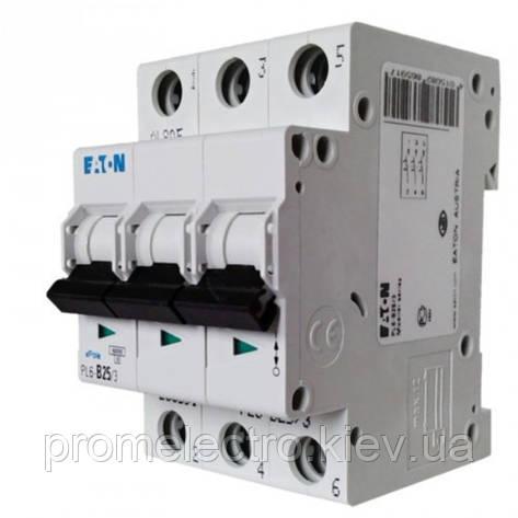 Автоматический выключатель  EATON PL4 C25 3p (293162), фото 2