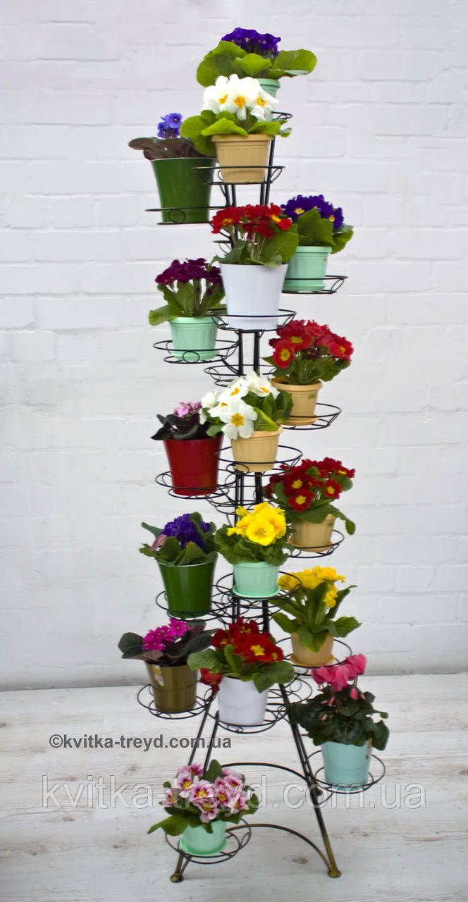 Кованая подставка для цветов Фиалка 22