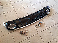 Диффузор накладка с насадками Audi A4 B8 рестайл стиль RS4
