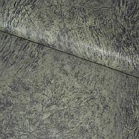 Кожа кожзам искусственный серо болотная с рисунком