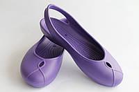 Женские лодочки фиолетовые ПВХ, фото 1