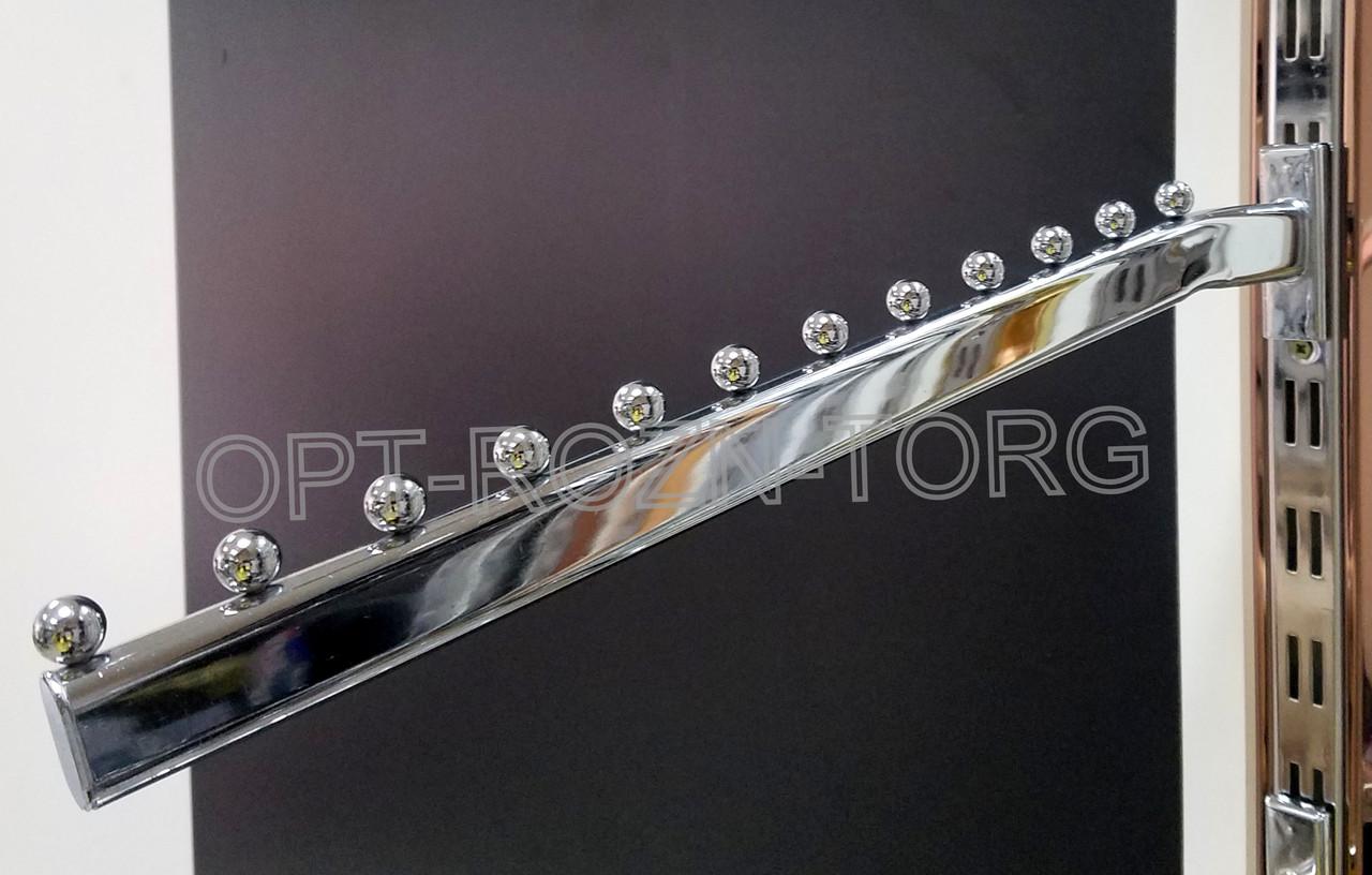Кронштейн (Флейта) овальная в рейку с изгибом.