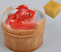 """Шкатулка """"Золотая рыбка"""" 8 см."""