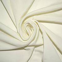 Трикотаж трикотажная ткань трикотажное полотно молочный с желтым оттенком ш.143