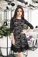 S, M / Коктейльное платье с гипюром Priston, черный