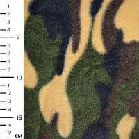 Флис зеленый желтый камуфляж ширина 162 флисовая ткань