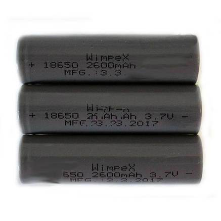 Аккумулятор WIMPEX WX 18650 grey 2600 mAh, фото 2